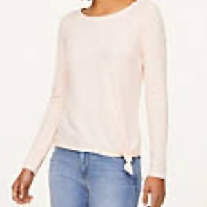 LOFT ribbed knotted tee